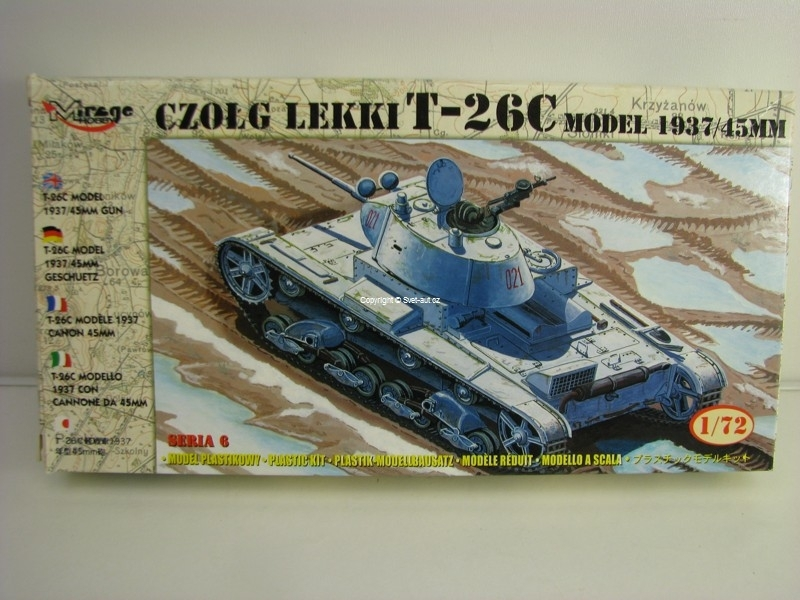 Lehký tank T-26C model 1937/45 mm 1:72 Mirage Hobby 72611